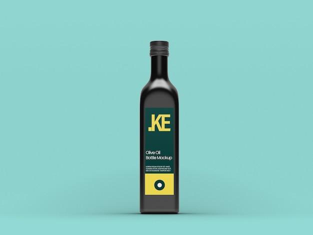 Mockup di olio d'oliva nero Psd Premium