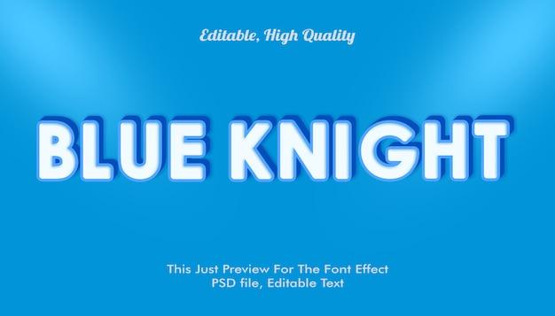 Mockup di effetto carattere cavaliere blu Psd Premium