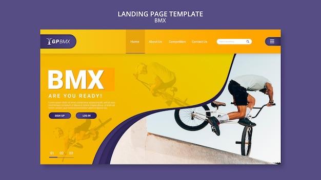 Modello di pagina di destinazione del concetto bmx Psd Premium