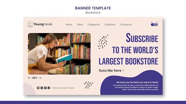 Modello di banner libreria Psd Premium