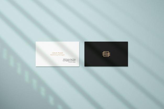 Modello di biglietto da visita con sovrapposizione di ombra Psd Premium