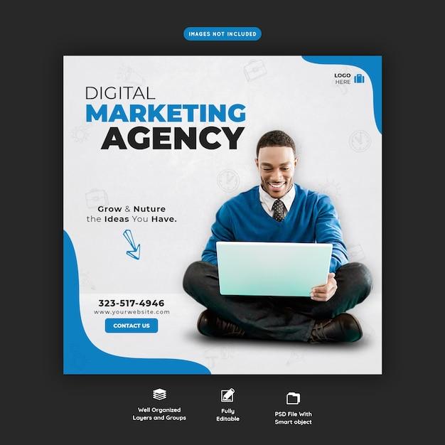 Modello di banner di promozione aziendale e social media aziendale Psd Premium