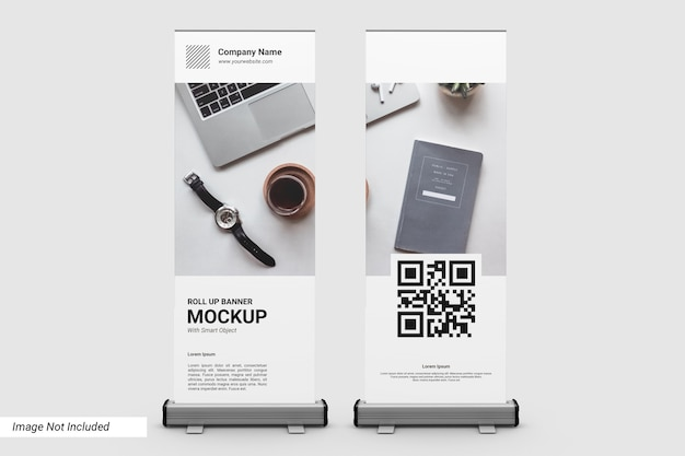 Business roll up banner mockup Psd Premium