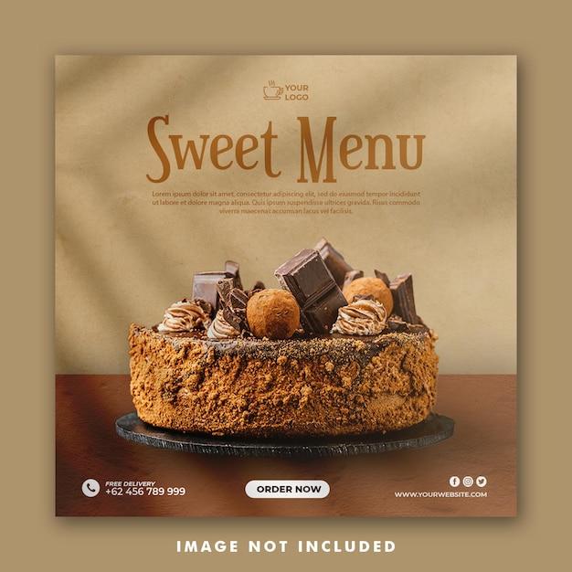 Modello di post sui social media per ristorante di promozione Psd Premium