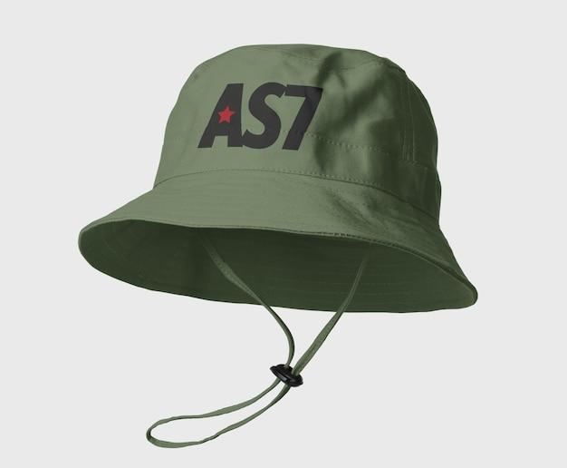 Design mockup cappello secchio di tela isolato Psd Premium