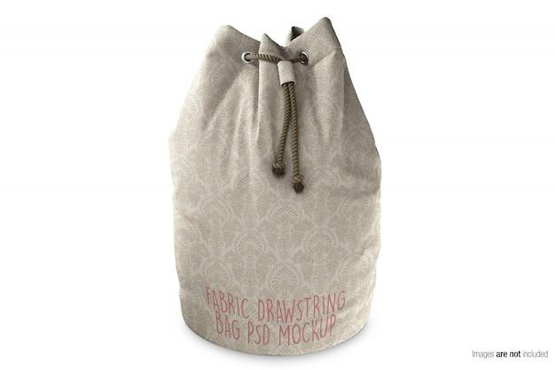 Mockup di borsa con coulisse in tessuto di tela Psd Premium