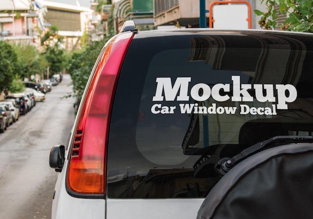 Mockup di decalcomanie per auto Psd Premium