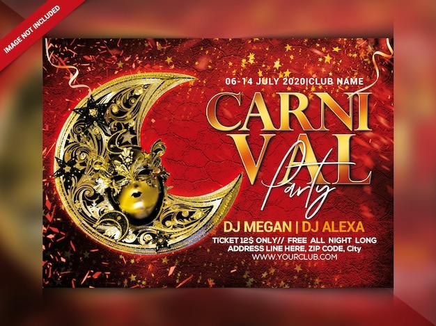 Volantino festa di carnevale Psd Premium