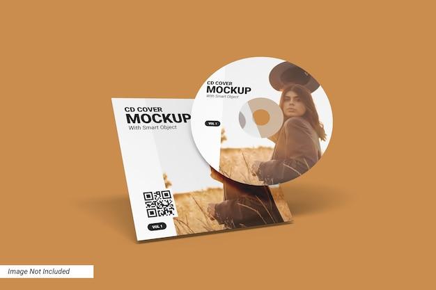 Cd cover mockup Psd Premium