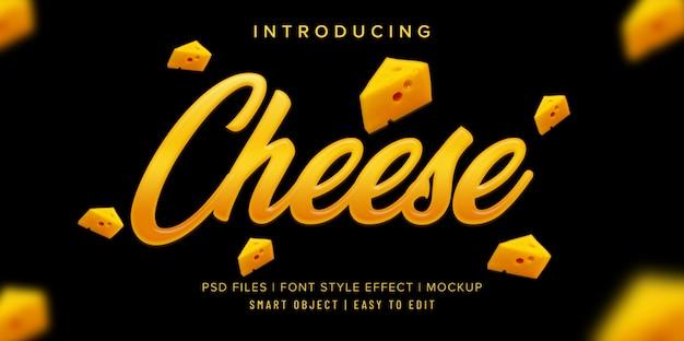 Mockup di effetto stile carattere formaggio Psd Premium