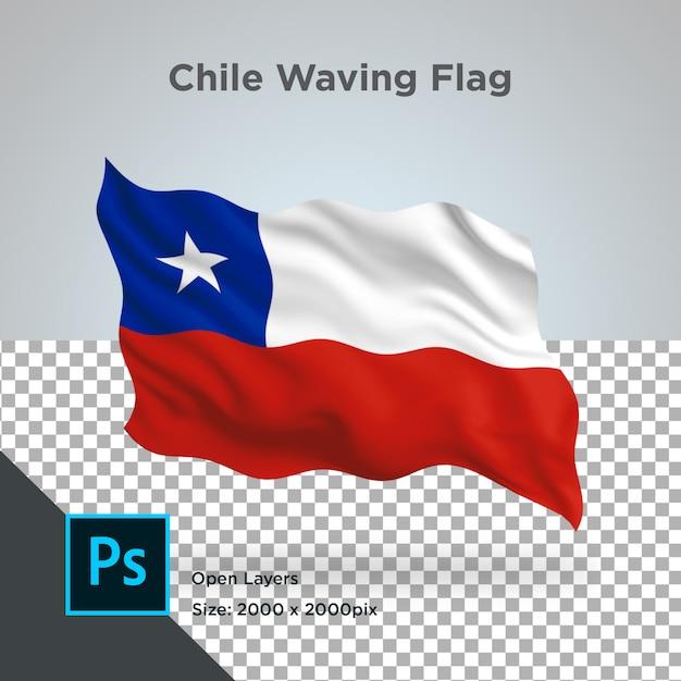 Bandiera cile wave psd trasparente Psd Premium