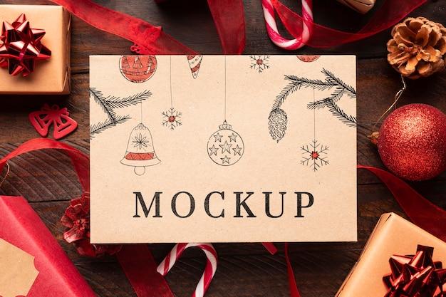 Mock-up e regali di natale Psd Premium