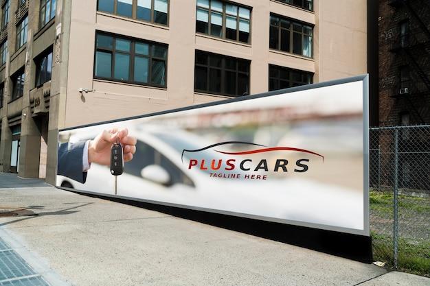 City billboard concept mock-up Psd Premium