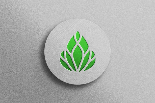 Mockup del logo con impresso 3d a colori puliti Psd Premium