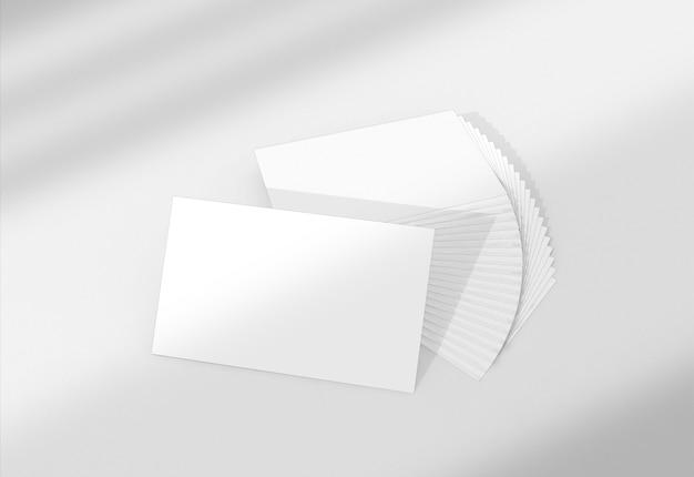 Primo piano sul mockup del biglietto da visita Psd Premium
