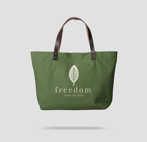 Primo piano su tela tote bag mockup isolato Psd Premium