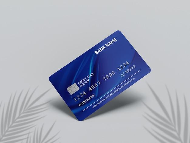 Primo piano su carta di credito mockup Psd Premium