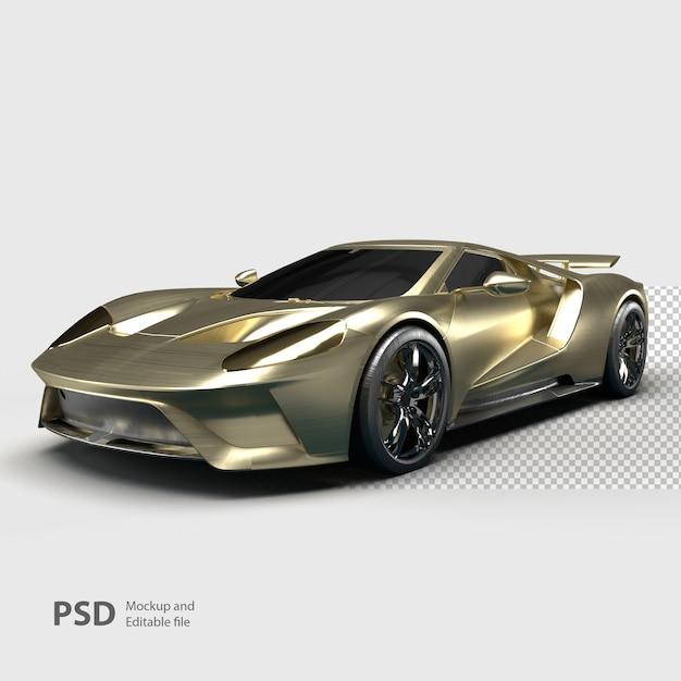 Primo piano su auto di lusso isolato Psd Premium