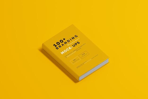 Primo piano sulla confezione del mockup di copertina del libro Psd Premium