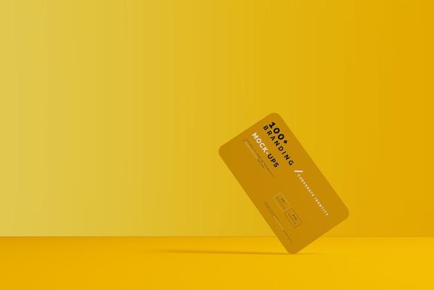 Primo piano sulla confezione del biglietto da visita mockup Psd Premium