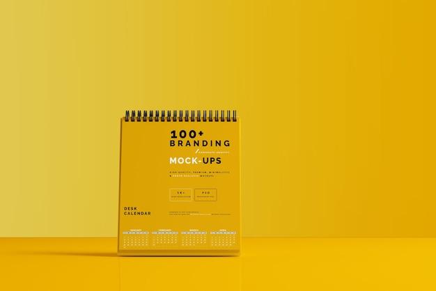 Primo piano sulla confezione del calendario da tavolo mockup Psd Premium
