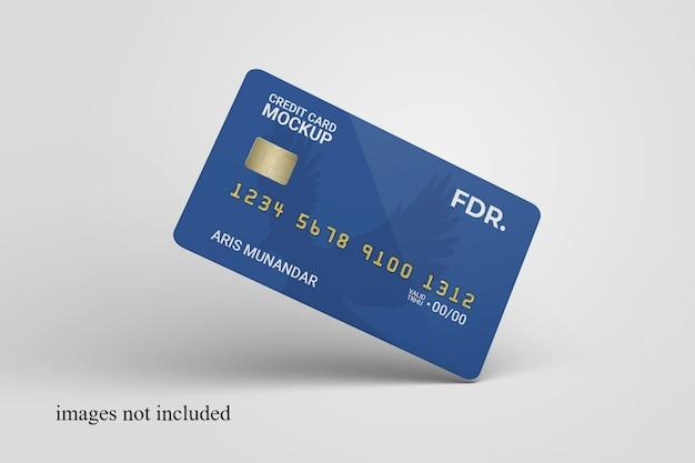 Primo piano su carta di credito permanente mockup Psd Premium