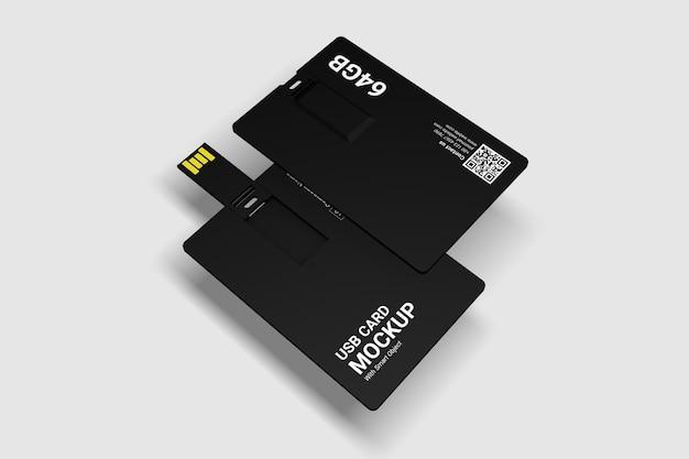 Primo piano sul mockup della scheda usb isolato Psd Premium
