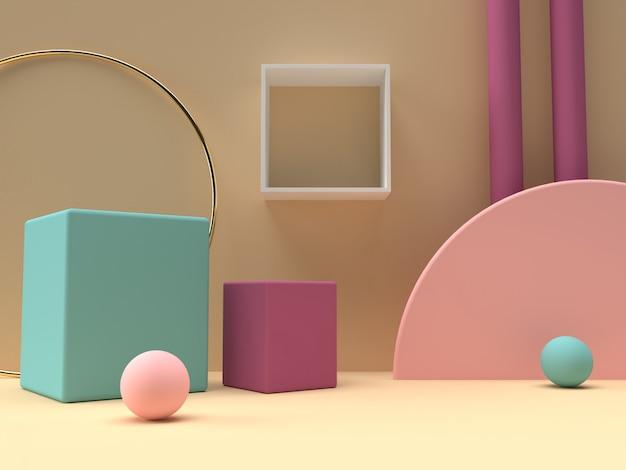 Supporto colorato prodotto pastello su sfondo. Psd Premium