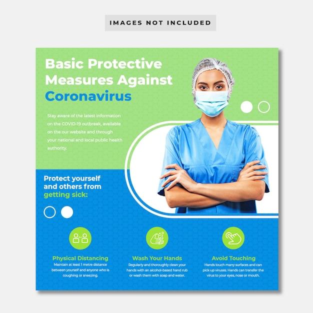 Banner di prevenzione del coronavirus Psd Premium