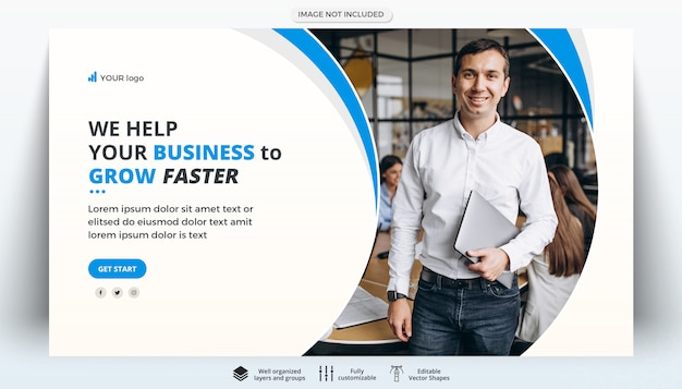 Modello di banner web creativo business aziendale Psd Premium