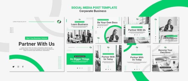 Posta sui social media aziendali Psd Premium