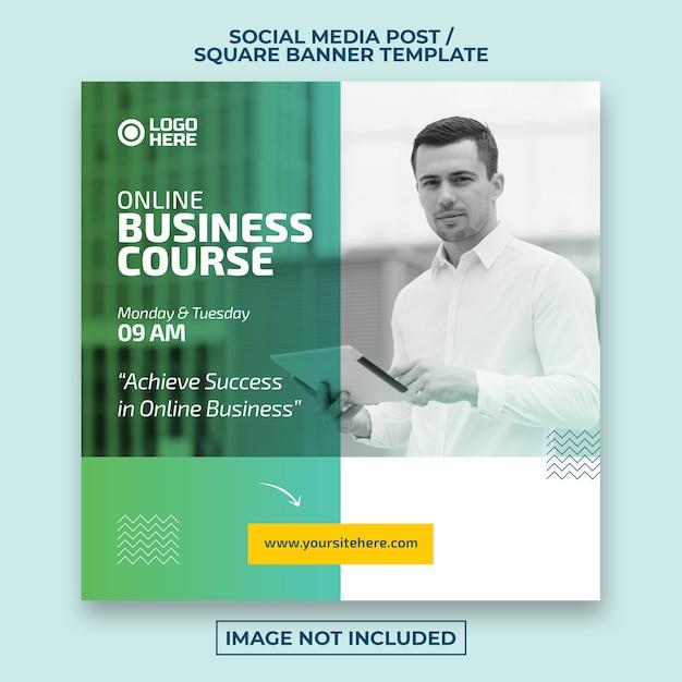 Social media post aziendale o modello di banner web quadrato Psd Premium