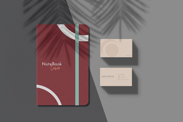 Cover notebook mockup Psd Premium