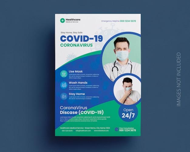 Modello di volantino medico della campagna del covon-19 coronavirus Psd Premium