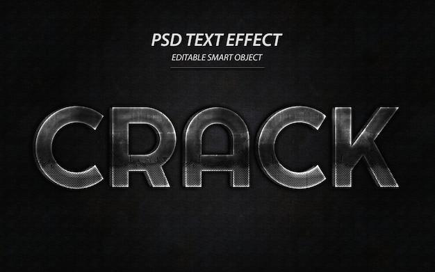 Modello di disegno effetto testo crack Psd Premium