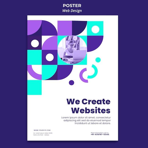 Creazione di modelli di poster per siti web Psd Premium