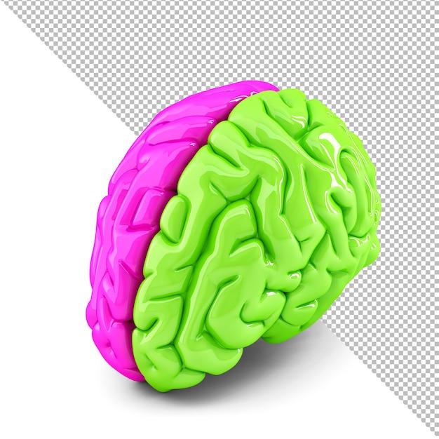 Illustrazione 3d di concetto di cervello creativo Psd Premium