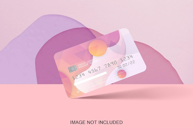 Carta di credito mock up isolata Psd Premium
