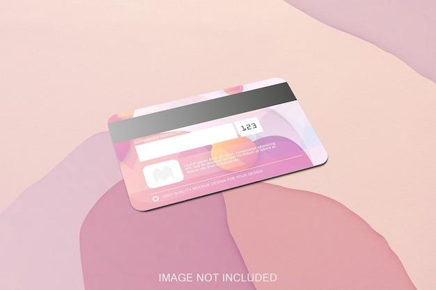 Mockup di carta di credito isolato Psd Premium