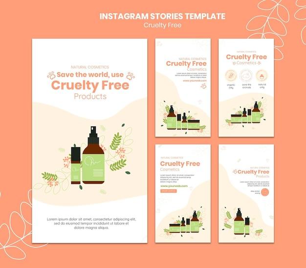 Modello di storie instagram di prodotti cruelty free Psd Premium