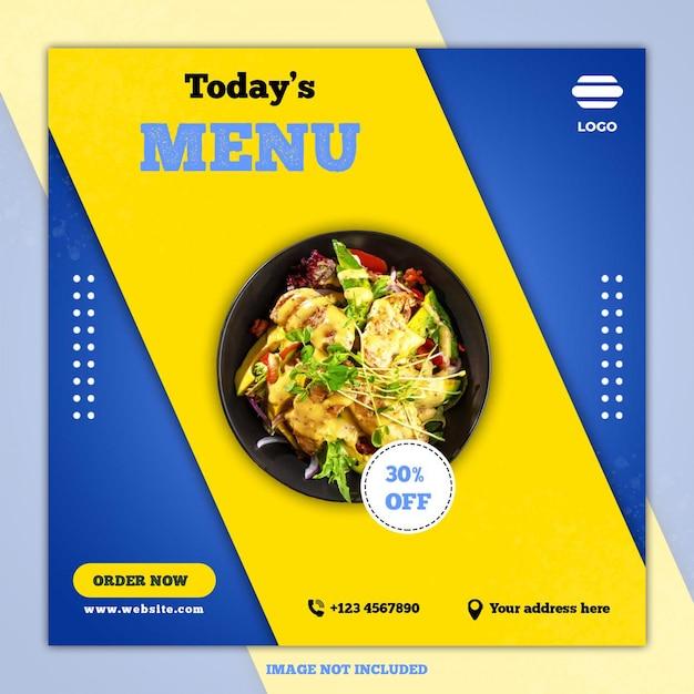 Modelli di social media banner culinari Psd Premium