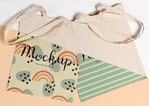 Mock-up concrpt di borsa carina Psd Premium