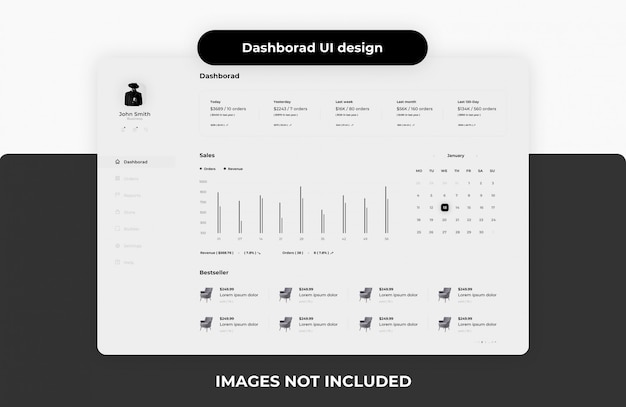 Modello di dashboard Psd Premium