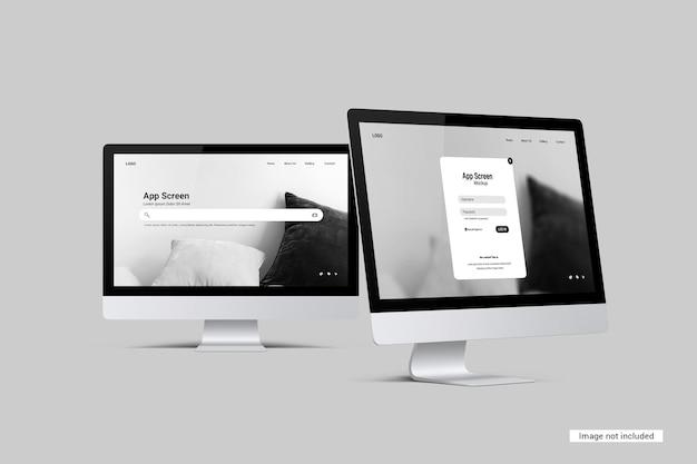 Mockup dello schermo del desktop Psd Premium