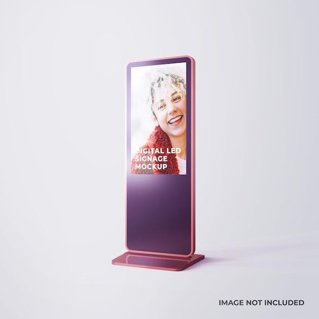 Mockup pubblicitario di segnaletica digitale a led Psd Premium