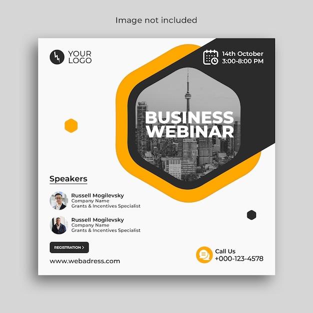 Banner di conferenza webinar aziendale di marketing digitale Psd Premium