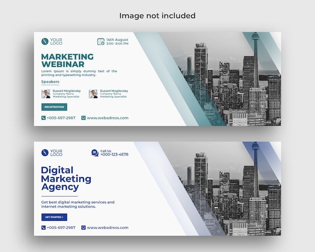 Conferenza webinar di marketing digitale aziendale Psd Premium