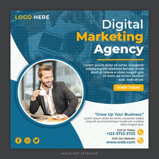 Modello di post sui social media di marketing digitale Psd Premium