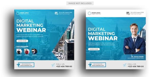 Webinar di marketing digitale modello di post sui social media Psd Premium