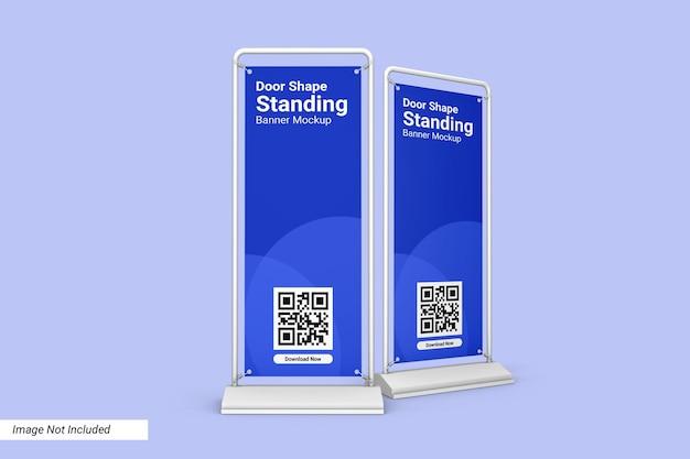 Porta forma in piedi banner mockup design isolato Psd Premium